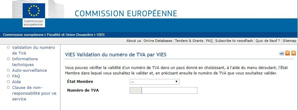 Plugin Rsform De Validation Du Numero De Tva Actualites De L